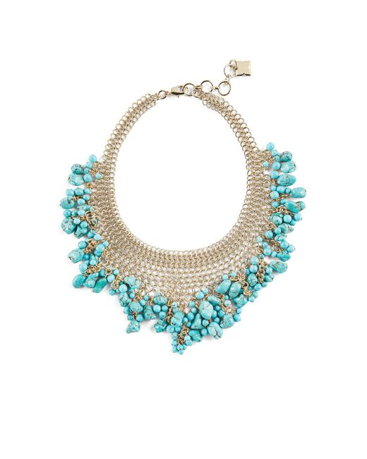 BCBGMAXAZRIA | Blue Natural Stone Necklace | Lyst