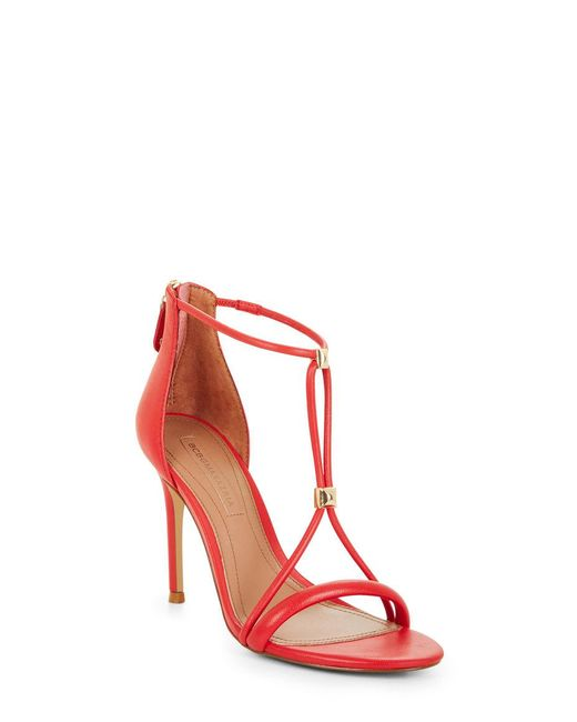 BCBGMAXAZRIA - Red Nixie Studded Leather Sandal - Lyst