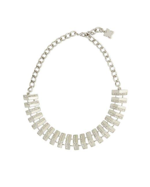 BCBGMAXAZRIA - Metallic Pave Track Necklace - Lyst