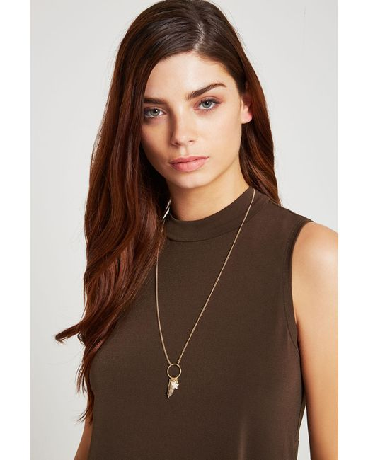BCBGeneration   Metallic Blessed Long Necklace   Lyst