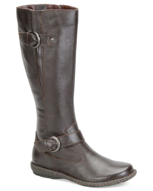 b 248 c leather boots only at macy s in black