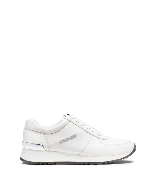 Michael Kors | White Allie Leather Sneaker | Lyst