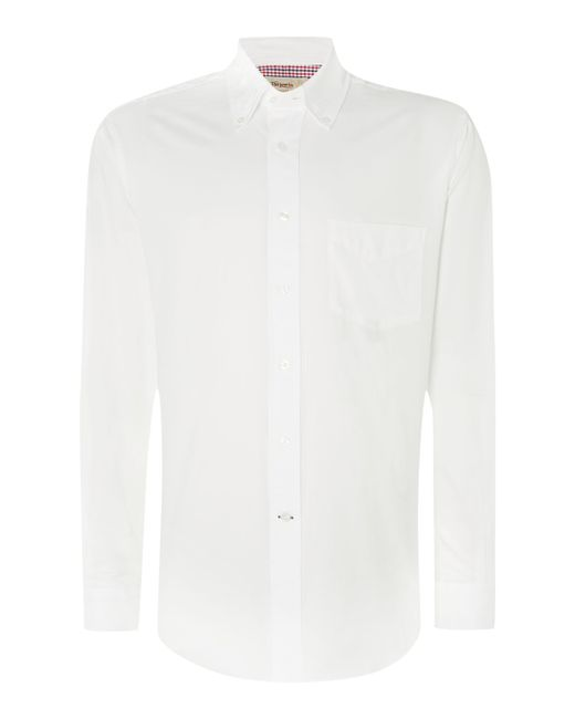 Tm lewin oxford classic fit long sleeve button down shirt for Oxford long sleeve button down shirt