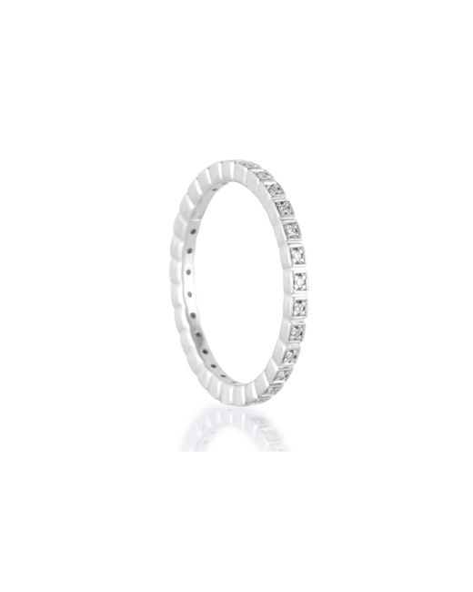 Anna Sheffield | Metallic White Gold Wheat Eternity Band | Lyst