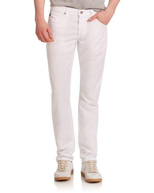 AG Jeans | White Graduate Slim Straight Jeans for Men | Lyst