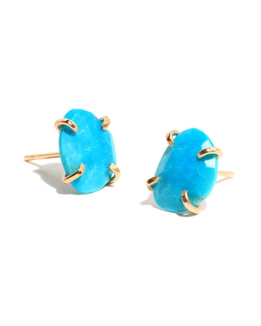 Melissa Joy Manning | Blue Turquoise Stud Earrings | Lyst