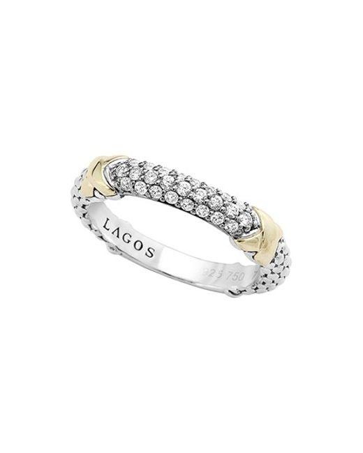 Lagos | Metallic 'diamond Lux' Diamond Band Ring | Lyst