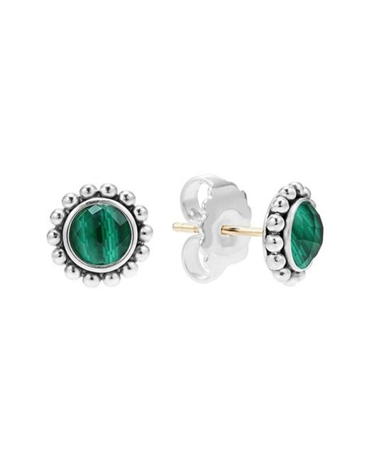 Lagos | Green 'maya' Doublet Stud Earrings | Lyst