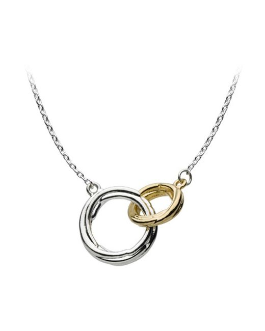 Kit Heath | Metallic Double Coil Two Tone Pendant Necklace | Lyst