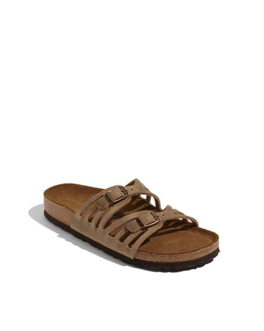 Birkenstock | Brown 'granada' Soft Footbed Oiled Leather Sandal | Lyst