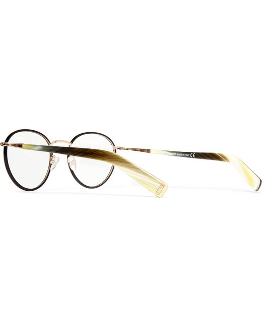 Tom Ford Round Frame Acetate And Metal Optical Glasses In