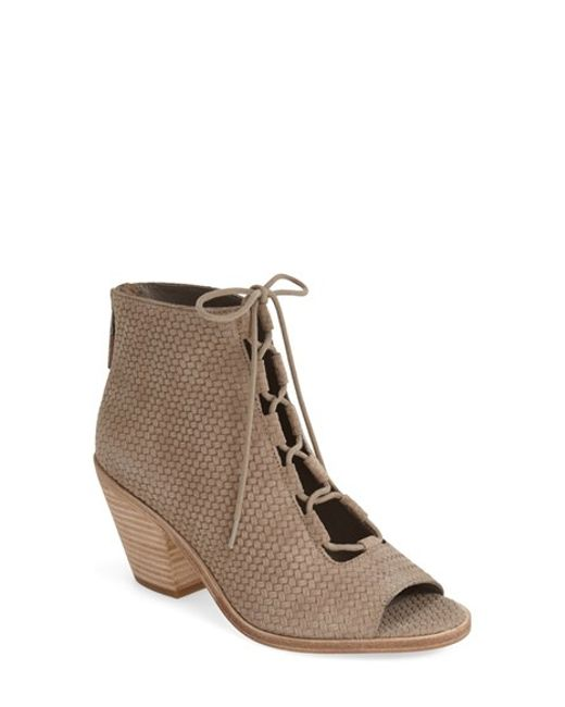 Eileen Fisher | Natural 'slew' Lace Up Bootie | Lyst