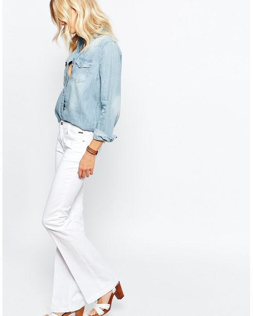 Pepe Jeans | Melissa Flare With Front Pocket - White | Lyst