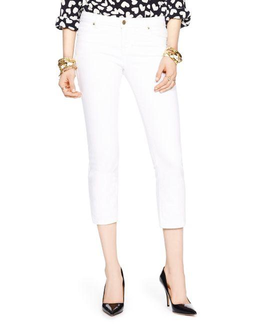 Kate Spade | White Delancey Street Cropped Jean | Lyst