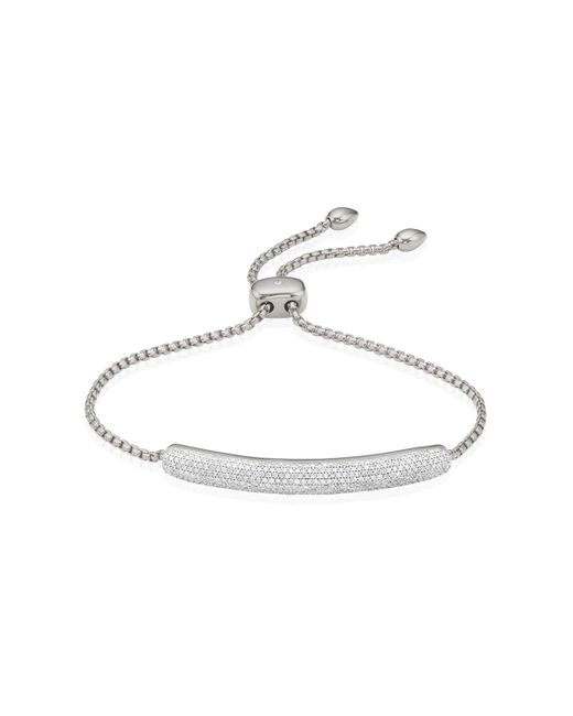 Monica Vinader | Metallic Esencia Diamond Bar Bracelet | Lyst