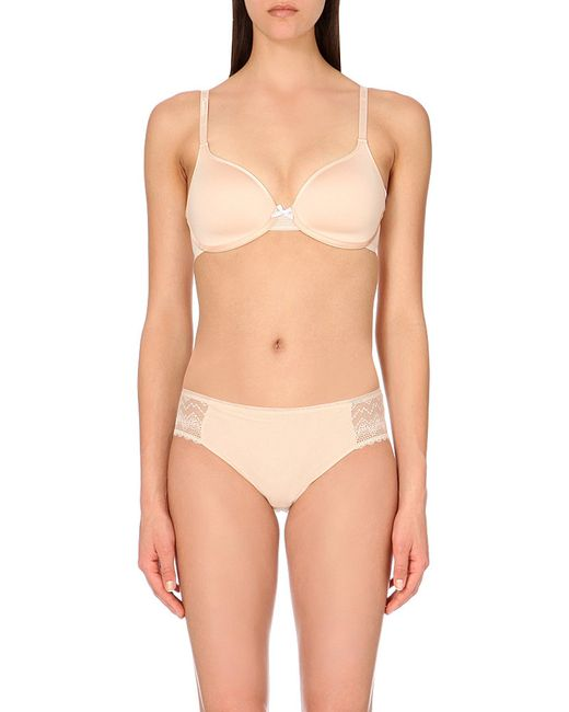 Chantelle | Natural C Ideal Satin T-shirt Bra | Lyst