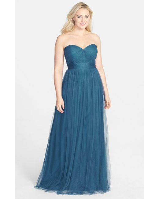 Jenny Yoo | Blue 'annabelle' Convertible Tulle Column Dress | Lyst