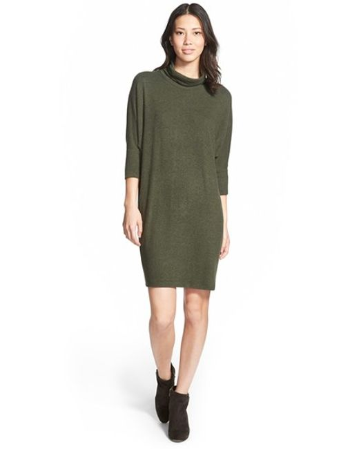Bobeau | Green Cowl Neck Shift Dress | Lyst