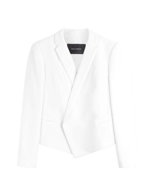 Tara Jarmon | Structured Jersey Blazer - White | Lyst