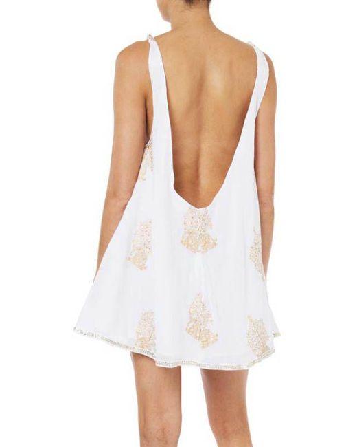 a584442d94a Juliet Dunn - White Animal Print Swing Dress - Lyst ...