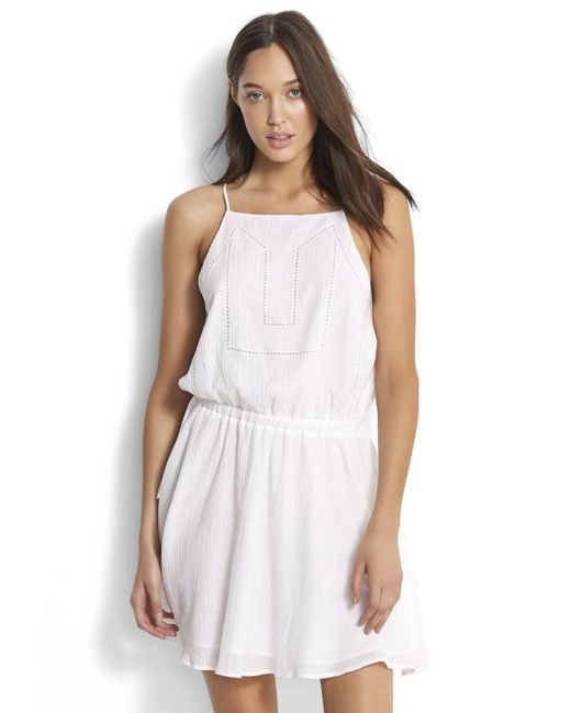 Seafolly - White Ladder Tape Dress - Lyst