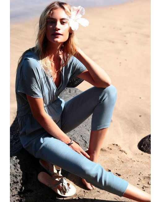 L*Space - Blue Raquel Romper - Lyst