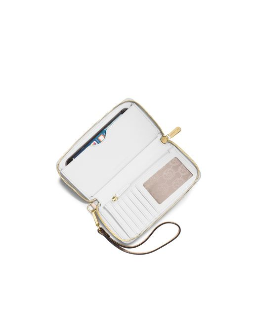 Michael Kors | Natural Jet Set Large Smartphone Wristlet | Lyst