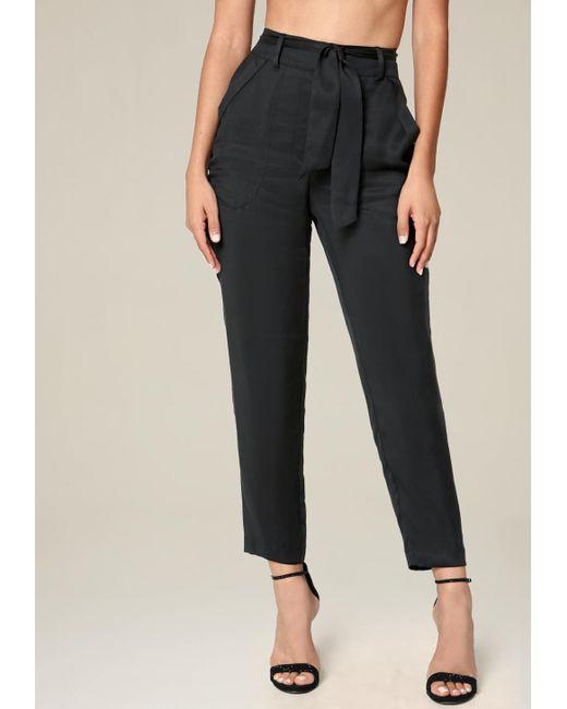 Bebe | Black Cargo Pocket Pants | Lyst
