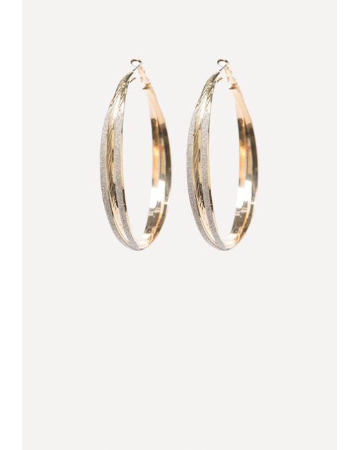 Bebe | Metallic Stardust Hoop Earrings | Lyst