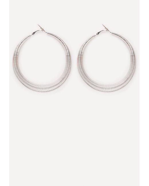 Bebe   Metallic Spiral Hoop Earrings   Lyst