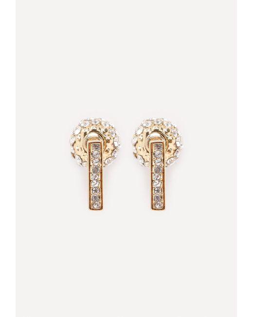 Bebe   Metallic Fireball Earrings   Lyst