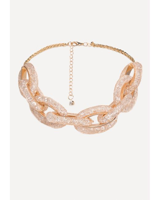 Bebe - Multicolor Crystal Link Necklace - Lyst