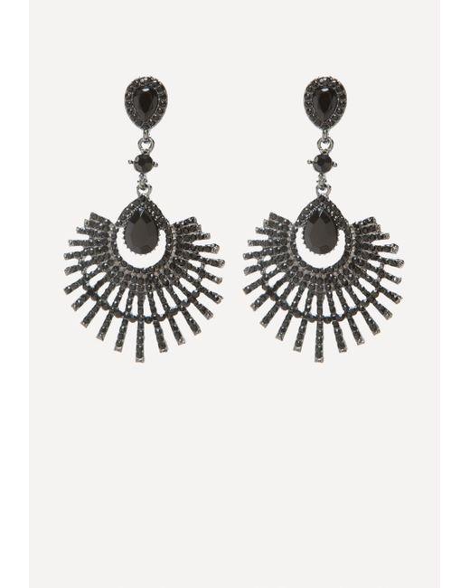 Bebe - Metallic Fanned Out Earrings - Lyst
