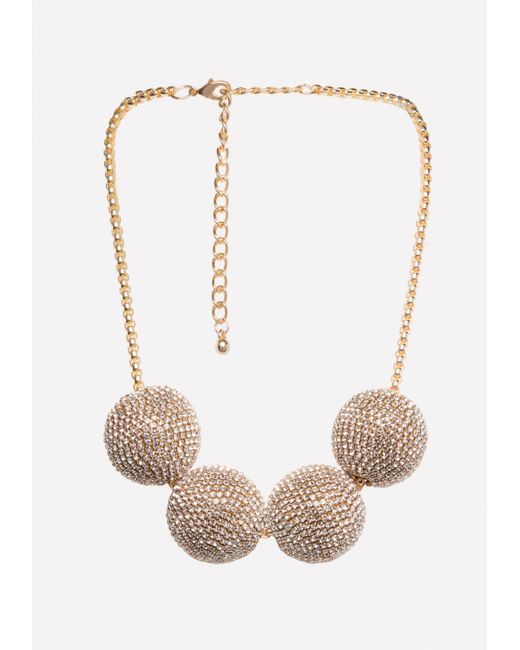 Bebe - Metallic Multi-ball Necklace - Lyst