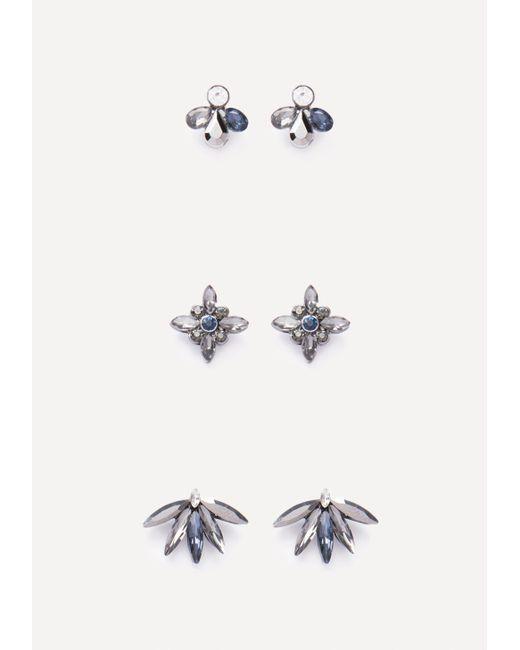 Bebe | Multicolor Ornate Stud Earring Set | Lyst