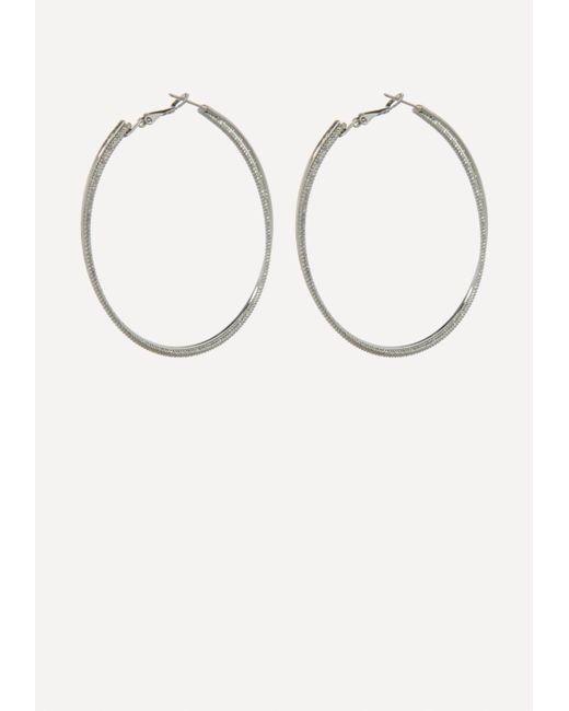Bebe - Metallic Double Hoop Earrings - Lyst