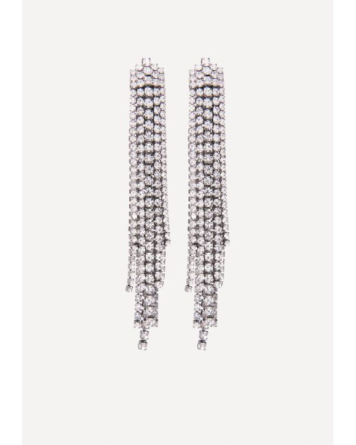 Bebe | Metallic Crystal Drama Earrings | Lyst
