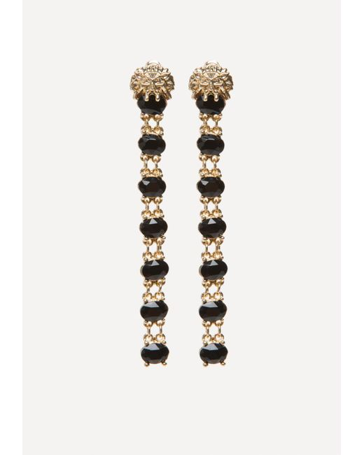 Bebe | Lion & Black Stone Earrings | Lyst