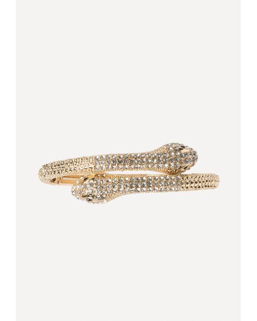Bebe - Metallic Snake Wrap Bracelet - Lyst