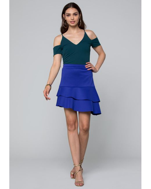 Bebe - Blue Courtney Bodysuit - Lyst