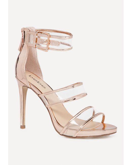 Bebe - Multicolor Auhdrey Clear Strap Sandals - Lyst