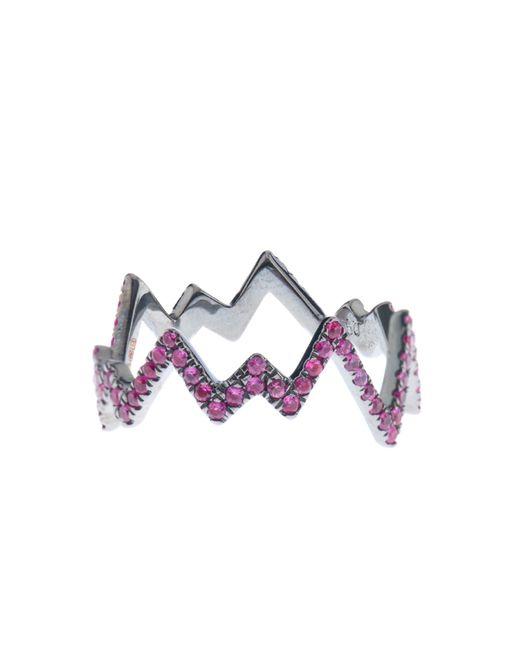 Diane Kordas | Pink-Sapphire & Black-Gold Pop Art Ring | Lyst