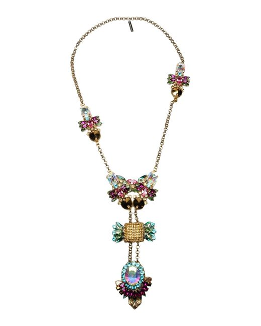 Deepa Gurnani | Purple Necklace | Lyst