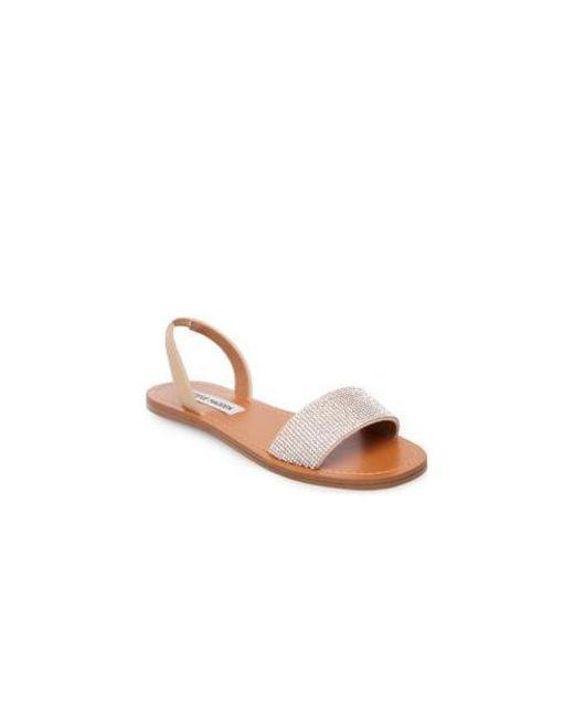 ebd475ec249 Steve Madden - Multicolor Flat Rhinestone Sandals - Lyst