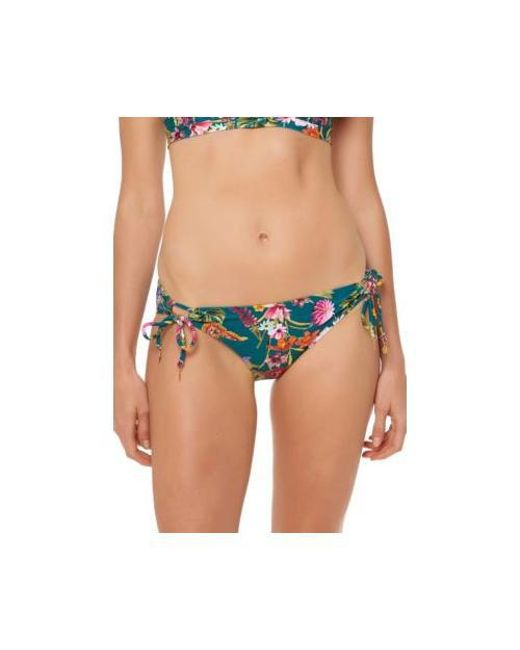 ebd1a0b49f Lyst - Jessica Simpson String Side Hipster Swim Bottom in Blue