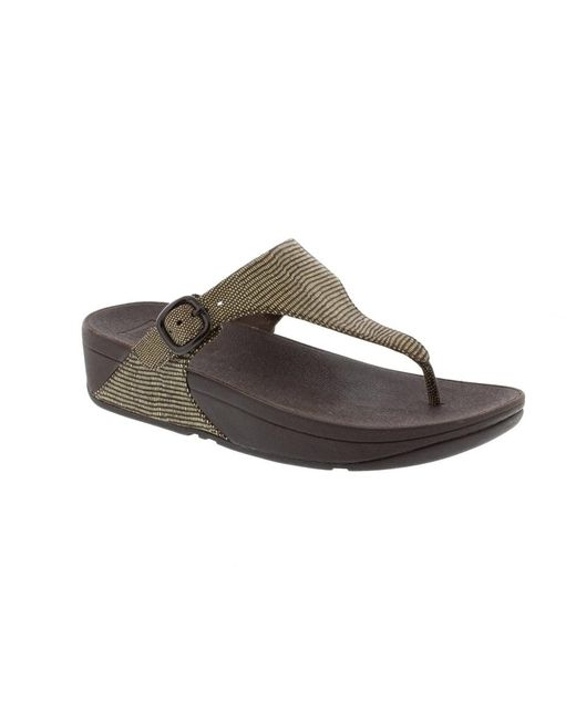 Fitflop | Brown The Skinny Lizard Print | Lyst