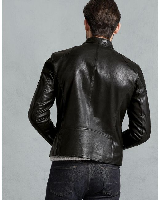 dc7b09a3a33 ... Belstaff - Black Bandit Café Racer Jacket for Men - Lyst ...