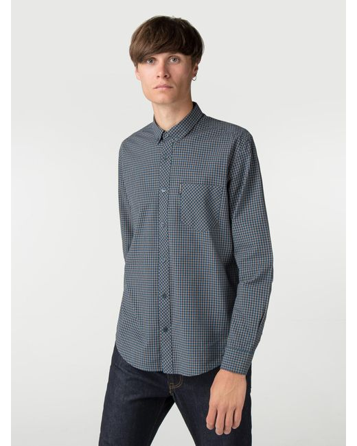 Ben Sherman - Blue Long Sleeve New Mini House Gingham Shirt for Men - Lyst