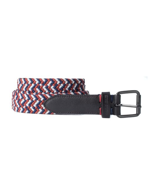 Ben Sherman | Red Barbican Woven Belt for Men | Lyst