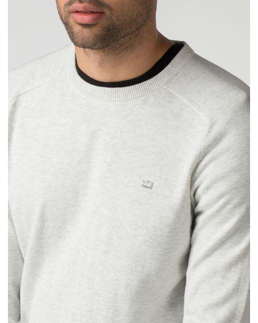 Ben Sherman - White Cotton Crew Neck Jumper for Men - Lyst